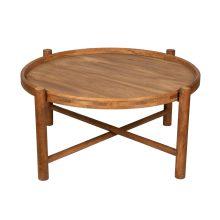 میز چوبی جلو مبلی طرح دایره قطر ۱۰۰ سانتی متر کد ME00001000