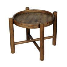 میز چوبی عسلی طرح دایره قطر ۴۰ سانتی متر کد ME00001001