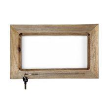 جاکلیدی دیواری چوبی طرح قاب مستطیلی کد ME00001015